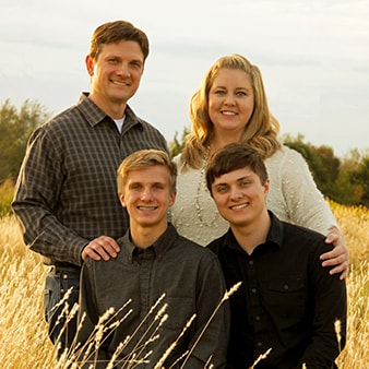 Dr. Volker - one of our Wichita dentists - and his family.