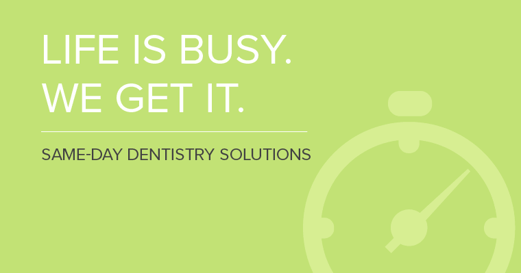Same-day dentistry makes it convenient to get the dental work you need done on your time.